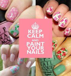 Keep+Calm+Nail+Art   Keep Calm and Paint your nails ... Shabby Chic Nail Art ♥