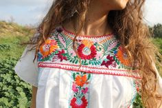 """Embroidered Mexican shirt, which I used to mail order from """"The Smuggler"""" out of the back of Seventeen magazine."""