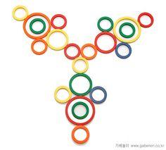 patroon ringen en stokjes