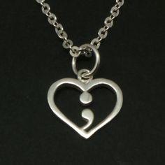 Silver Semicolon Necklace