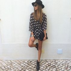 Joana Freitas Ootd, Jumpsuit, Hipster, Shirt Dress, Chic, Portuguese, Addiction, Shirts, Outfits