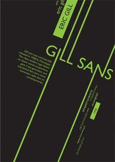 Typography poster for Gills Sans