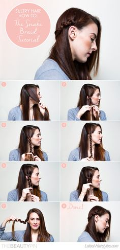 Want to learn how to create an easy and fun hairstyle?  This tutorial to learn how to create the snake braid is easy to follow and detailed.  The instructions on this hairdo are so easy anyone can do it!