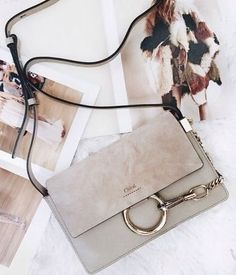 Chloe small shoulder bag  Faye  in suede calfskin cynthia reccord 468203fdbb6c8