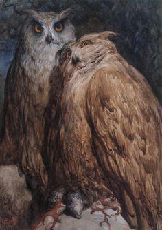 mudwerks:    (via Gustave Doré Art Images)  Gustave Doré - Two Owls