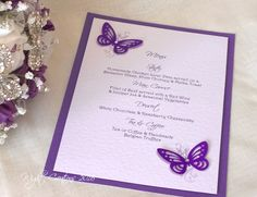 Butterfly & Floral A5 mounted menu