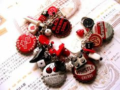 Bottle cap charm bracelet