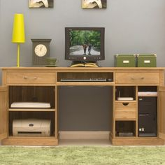 mobel oak large home office atlas oak hidden home