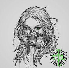 Dark Art Drawings, Art Drawings Sketches, Tattoo Drawings, Cute Drawings, Acab Tattoo, Arte Horror, Digital Art Girl, Gothic Art, Picture Tattoos