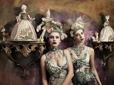 55 Baroque Fashion Styles - From Busily Patterned Editorials to Demure Photoshoots (TOPLIST)