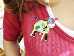 Cow brooch for girls best friend birthday gift by MyFunnyThings, $12.00