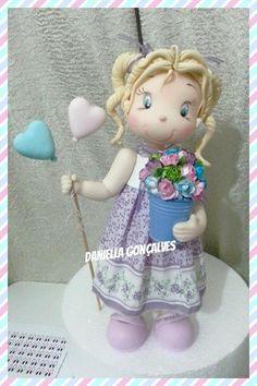 DIY- Boneca em biscuit- Dia das Mães