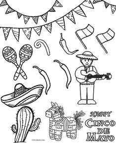 printable cinco de mayo coloring pages for kids cool2bkids - Cinco De Mayo Skull Coloring Pages