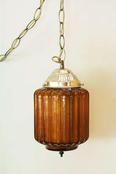 Vintage Hanging Lamp. $55.00, via Etsy.