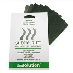 Subtle Butt: Disposable Gas Neutralizer Pads | 24 Genius Clothing Items Every Girl Needs