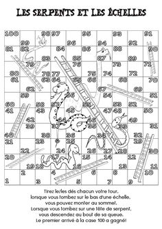 Here's a free template for the game Snakes and Ladders