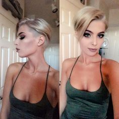 Blonde pixie haircut #pixiecut #blonde #haircut