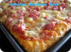 Homemade Pan Pizza Crust.  I used to buy Boboli crust but now I make my own becuse it's so easy and my kids prefer it.