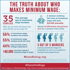 #RaisetheWage for Moms! Truth about who makes minimum wage: http://action.momsrising.org/sign/momsraisethewage/