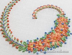 Stitch & Color Combinations on Decorative Initials