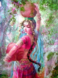 Radharani, rani is queen in sanskrit. Queen Radha ♥ Krishna's beloved