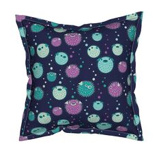 Mid-Century Modern Midcentury Space Age Inspired Atomic Pillow Sham by Roostery