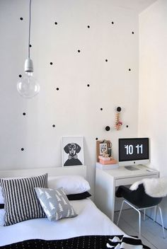Make Polka Dot Decal with black contact paper