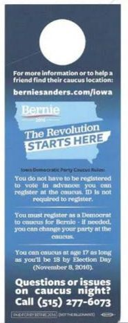 Thousands of these are being put on doors in IOWA now! (Revolution starts here) - Democratic Underground