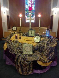 A photo sent to us from Rani Woodrow at Carrboro UMC in North Carolina! Love the clocks!