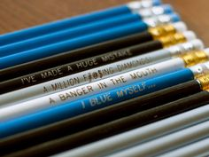 12 Arrested Development inspired Engraved Pencil Pack. $14.00, via Etsy.