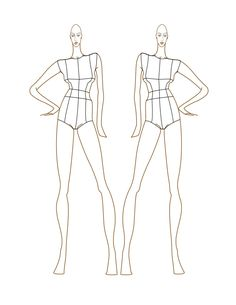 Full figure croquis female fashion croquis templates female fashion figure templates italian fashion school pronofoot35fo Choice Image