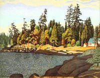 EJ Hughes, Edge of the Wood, Gabriola Island
