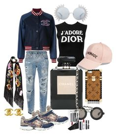 """""""SlayChanelLemonade"""" by malikohenny on Polyvore featuring Chanel, Dolce&Gabbana, Christopher Kane, Christian Dior, Givenchy, Rockins, Linda Farrow and Amici Accessories"""