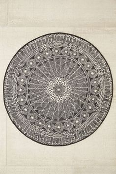 Plum & Bow Florisse Printed Round Rug - Urban Outfitters