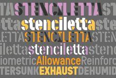Stenciletta type specimen