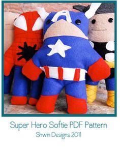 Superhero Doll pattern. So cute!!