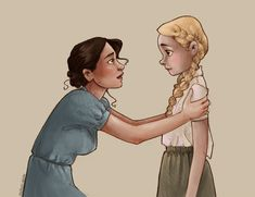 """Little duck."" Katniss and Prim Everdeen."