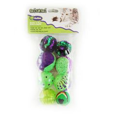 This multi-pack of ball toys will put your kitty in a playtime mood... My cat plays with these for hours!