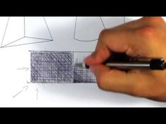 How to Cross Hatch in Ball Point Pen   Easy Things to Draw