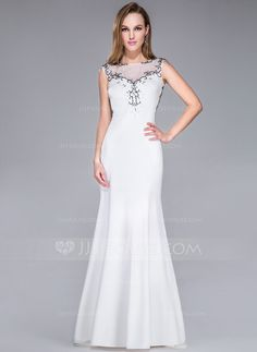 I LOVE this one. Evening Dresses - $139.99 - A-Line/Princess Scoop Neck Sweep Train Tulle Jersey Evening Dress With Beading (017041125) http://jjshouse.com/A-Line-Princess-Scoop-Neck-Sweep-Train-Tulle-Jersey-Evening-Dress-With-Beading-017041125-g41125