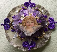Vintage Look Angel Christmas Ornament Victorian-German Scrap Angel,German Dresdens, Spun Glass, German Tinsel, Crepe Paper by HavAMarileeChristmas on Etsy
