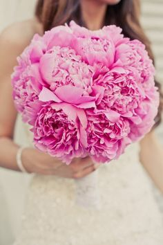 Wedding Bouquets With Pink Peonies