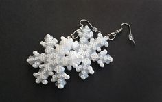 Snowflake Earrings / Christmas Jewelry / Geeky Holiday