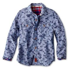 Baker by Ted Baker Print Chambray Shirt - Boys newborn-24m - jcpenney (on sale for less than $15!) #fashiontots