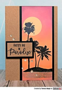 Tropical Island Cards