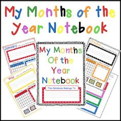 Notebooking Nook: Freebie: My Months of the Year Notebooking Pages