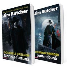 Dosarele Dresden, de Jim Butcher, pachet vol 1 + 2, Nori de furtuna, Luna nebuna