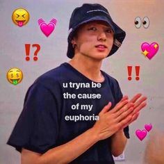 Bts Reactions, When I See You, Meme Faces, Text Me, Reaction Pictures, Taekook, Bts Memes, Funny Memes, Pretty Boys
