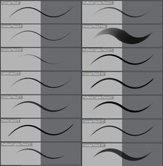 Concept Pencils Clip Studio Paint EX by Ashentar.deviantart.com on @DeviantArt