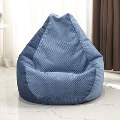 Latitude Run Traditional Polyester Bean Bag Chair Upholstery: Dark Brown Small Bean Bags, Small Bean Bag Chairs, Bean Bag Lounger, Bean Bag Sofa, Bean Bag Furniture, Furniture Decor, Modern Bean Bags, Diy Bean Bag, Air Chair